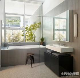 90平米房屋卫生间装修效果图