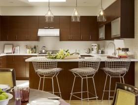 时尚创意的厨房吧台装修效果图