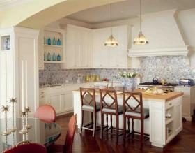 欧式风格装修厨房整体橱柜效果图