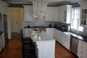 欧式田园家具厨房整体橱柜效果图