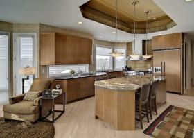 欧式室内装修厨房吊顶效果图