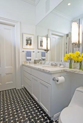 70平米两室一厅装修效果图 卫浴柜装修效果图