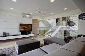 复式装修设计 现代简约复式客厅装修