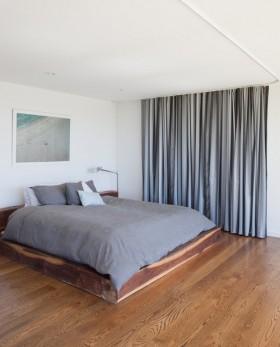 三室两厅110平米5万装修效果图大全 卧室窗帘图片