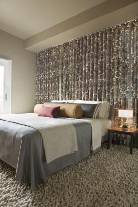 冷色调卧室背景墙装修效果图