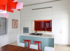 简约家居开放式厨房吧台装修效果图