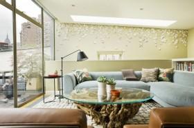 贝壳妆点的客厅沙发装修效果图