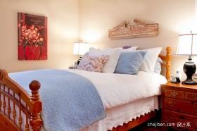 小卧室装修效果图大全2012图片 乡村田园风格舒适美家