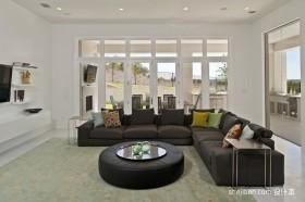 简约客厅沙发装修效果图大全2012图片