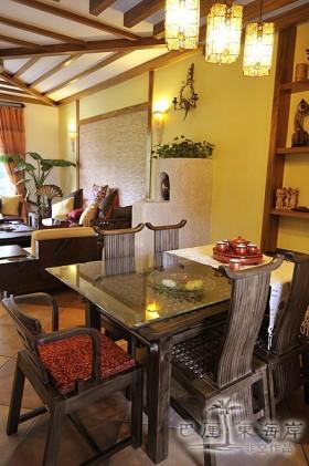 东南亚风情特色餐厅吊顶装修效果图-非空设计作品