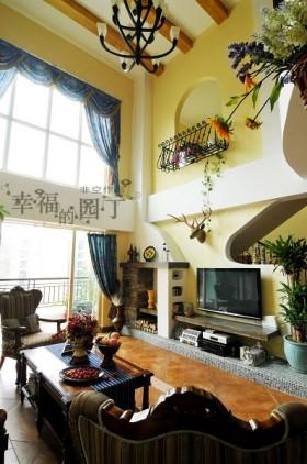 跃层式客厅装修效果图大全2013图片