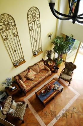 田园风格小户型客厅装修效果图