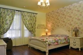 田园风格小卧室墙纸装修效果图
