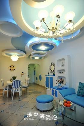 地中海风格客厅吊顶灯具图片