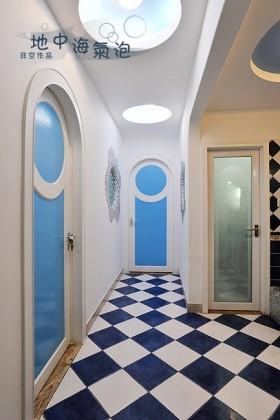 地中海风格玄关装修效果图 走廊吊顶效果图