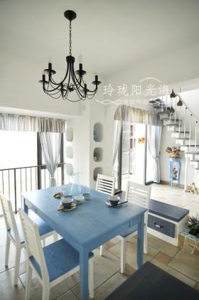 地中海风格小餐厅装修效果图-非空设计