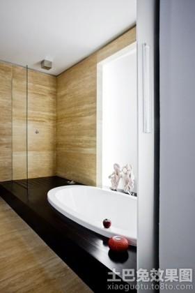 浴室大理石瓷砖装修效果图