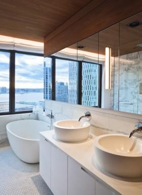 现代风格装修图片 卫生间装修效果图大全