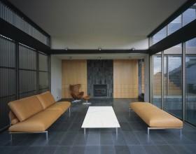 灰色调客厅装修效果图 现代风格舒适客厅装修