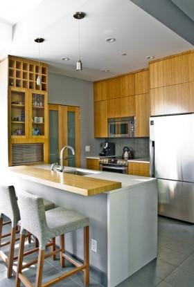 家居厨房吧台装修效果图