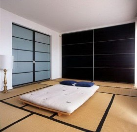 日式简约榻榻米床装修效果图