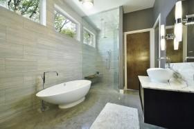 卫浴间浴缸装修效果图大全