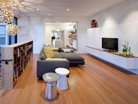 三室两厅两卫舒适客厅整体装修效果图