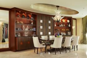 现代风格餐厅酒柜装修效果图