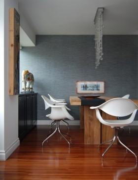 灰颜色餐厅背景墙装修效果图