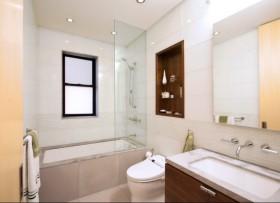 90平米房屋卫生间浴缸装修效果图欣赏