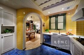 地中海风格厨房装饰-鬼手帕设计