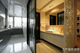 L型小厨房卫生间隔断装修效果图