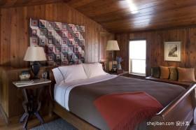 温馨美式田园卧室颜色搭配效果图