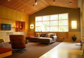 暖色调客厅装修效果图