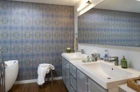 卫浴间壁纸装饰效果图