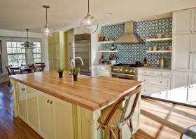 田园风格装修图片 小厨房装修效果图