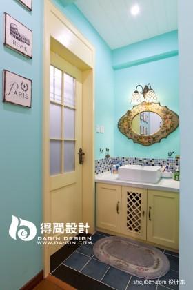 田园风格小卫生间装修效果图  洗手间装修效果图