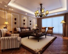 地中海风格客厅装修效果图欣赏