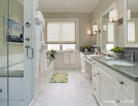 小清新别墅的白色卫浴设计