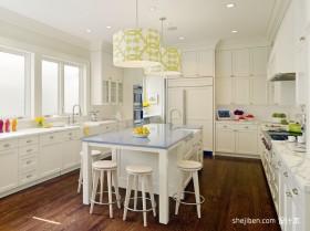 白色小清新别墅厨房装修效果图