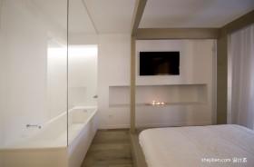 130平米黑白简约主卧室装修效果图