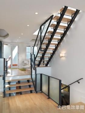 室内钢结构楼梯设计图展示