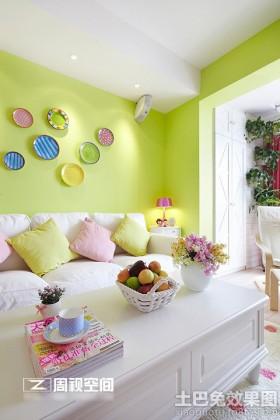 糖果色简欧二居室内装修效果图欣赏