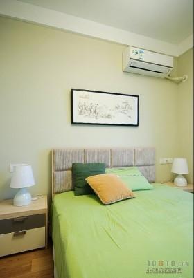 鲜绿色卧室装修效果图