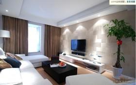 现代风格时尚客厅背景墙装修效果图