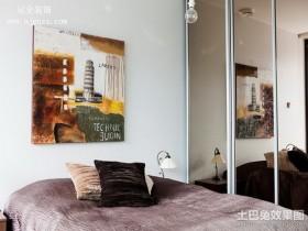 60平米小户型黑白简约卧室装修效果图