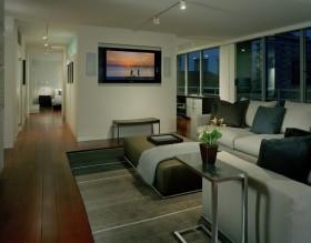 现代简约风格舒适客厅装修效果图