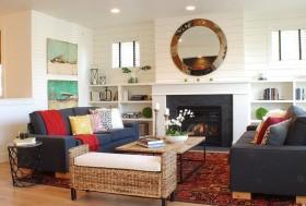 简约舒适的欧式田园风格客厅装修图片