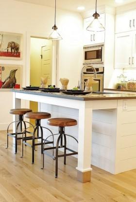 品质舒适吧台欧式田园风格厨房吧台装修图片