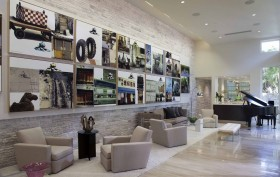 现代简约风格装修图 客厅照片墙装修效果图